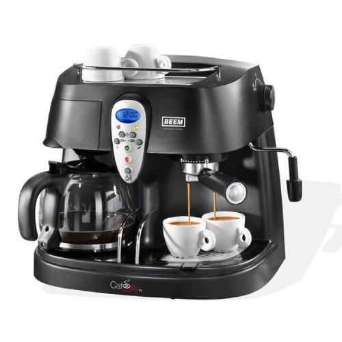 BEEM Café Joy, Espresso- und Kaffeemaschine, schwarz