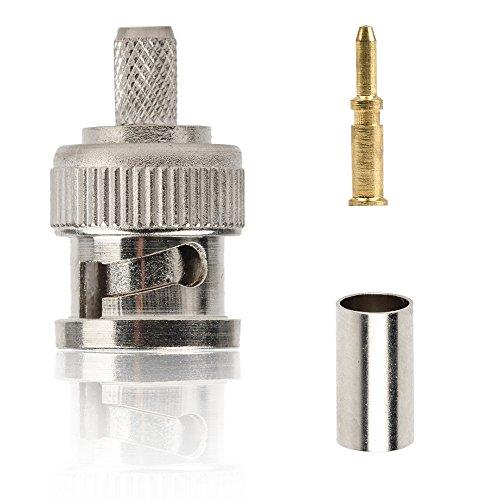 Eagles BNC Plug Crimp Connectors for RG58 RG-58 RG400 LMR195 Coax Male (10pcs)
