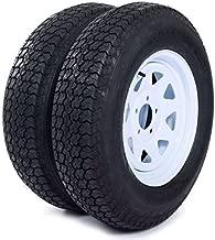 AutoForever 2pcs Trailer Tires & Rims ST205/75D15 F78-15 205/75-15 15