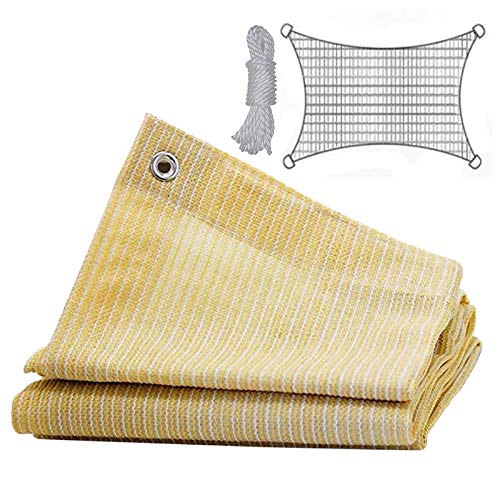 æ— 6.5 x 13.1 Sun Shade Sail, 95% Sun-Block Rectangle Shade Cloth Net Mesh with 26Ft Rope, Block Awning Shade Canopy for Outdoor, Patio Garden Backyard