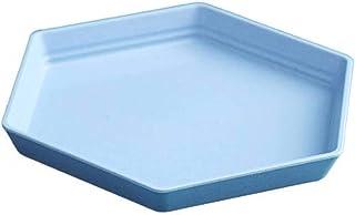 N-B Hexagonal Dessert Plate Home Tea Table Snacks Melon Seed Tray Fashion Geometric Fruit Plate
