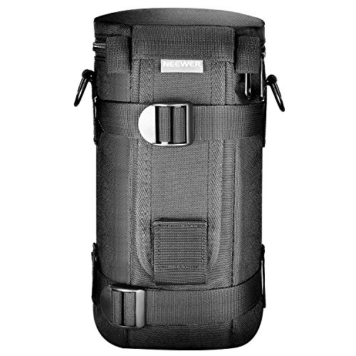 Neewer NW-L2070 Black Padded Water-Resistant Lens Pouch Bag Case with Shoulder Strap for 70-200mm Lens, Such as Canon 70-200/2.8IS, 100-400, 180mm / Nikon 70-200, 80-400, 180-2.8