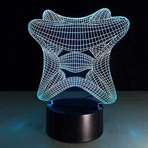 8bayfa, USB-nachtlampje, 3D-zichtlamp, optische illusie, kleurrijke tafellamp, kleine batterij, baby-nachtlampje, lichtopbrengst