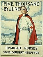 インチ錫サイン大学院看護師ヴィンテージ鉄塗装金属板ノベルティ装飾クラブカフェバー