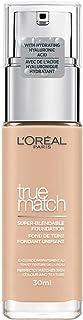 L'Oreal Paris True Match Liquid Foundation 2C ros vanilj, hudvård infuserad med hyaluronsyra, finns i 40 nyanser, SPF 17, ...
