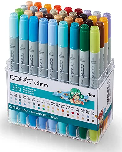 Copic Ciao - Paquete de 36 rotuladores, multicolor