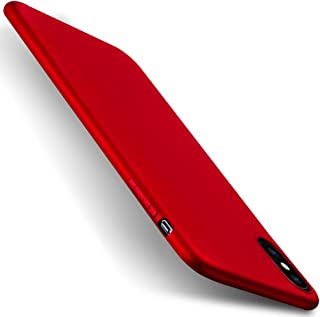 X-level Case Compatible iPhone X and iPhone Xs,Soft TPU Matte Surface Slim Ultra Thin Light Full Protective Back Cover Compatible Apple iPhone Xs Case (2018) / Apple iPhone X Case (2017)-Red