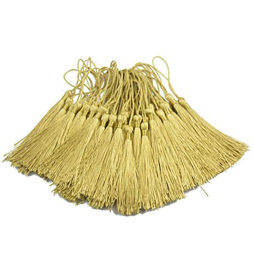 120Pcs Rainbow Color Floss Bookmark Tassels Classic Fringe with Cord Loops