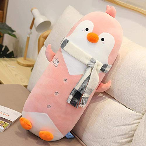 SongJX-Love Gzzxw 1 unid 50 cm Kawaii Pendientes de pie con Bufanda Juguetes de Peluche rellena Encantadora pingüino Animal, Almohada de Dibujos Animados Suave para niños Regalo