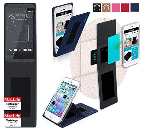 Hülle für HTC Desire 630 Tasche Cover Hülle Bumper | Blau | Testsieger
