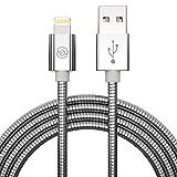 SYNLOGIC [Apple MFi-Zertifiziert USB schnelllade Lightning Kabel mit metallgeflochtenem für iPhone 11/X/8/8Plus/7/7Plus/ 6S/6SPlus/6/6Plus/5S/5C/5/SE/iPad 4/Mini/Mini 2 | iPod