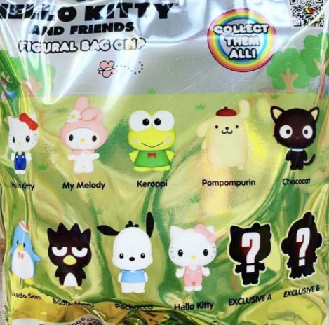 Hello Kitty & SANRIO Friends 3D Foam Bag Clip in Blind Bag