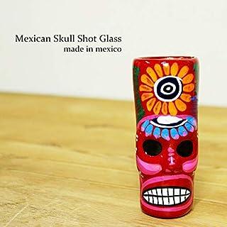 RUG&PIECE Mexican skull メキシカンスカル ショットグラス メキシコ製 (int-2133)