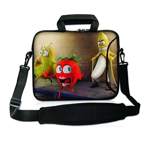 """Funky Planet 15\""""- 15,6\"""" Zoll Tablet-Laptop-Notebook MacBook-Tasche mit Griff und Tragetasche Schutzhaut (15h/s Two Queens) (Banana)"""