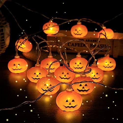 Cynamus Cadena de Luces de Halloween, Cadena de Luces para Halloween, Decoración de Halloween, Luces De Cabeza De Calavera De Halloween, para Decoración de Halloween en El Hogar (2.5m)