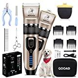 Best Dog Hair Clippers - Gooad 14 Pcs Dog Clippers Low Noise 2 Review