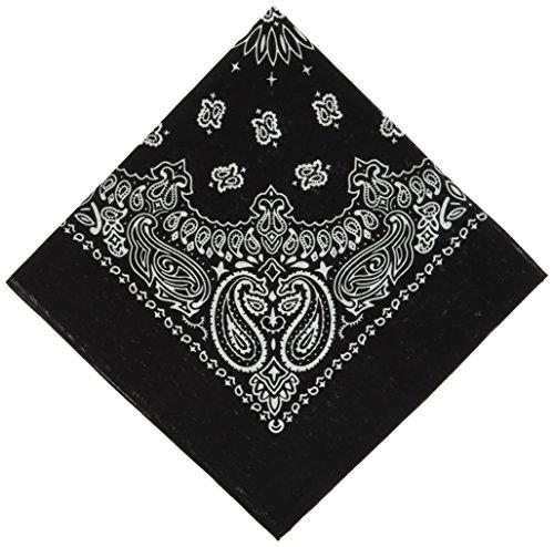 MasterDis Unisex Halstuch Bandana für Damen und Herren Stirnband, Kopfband, black, one size