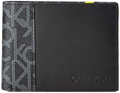 Calvin Klein - Ck Mono 5cc Coin, Tarjeteros Hombre, Negro (Black), 9.5x1.9x12.4 cm (B x H T)