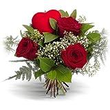 Ramo 3 rosas rojas - Flores naturales a domicilio en 24h - Flores frescas - Regalo ENAMORADOS día de San Valentín