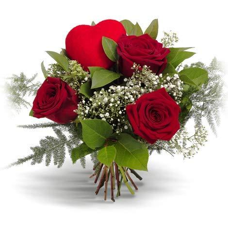 Ramo 3 rosas rojas - Flores naturales a domicilio en 24h - Flores fres