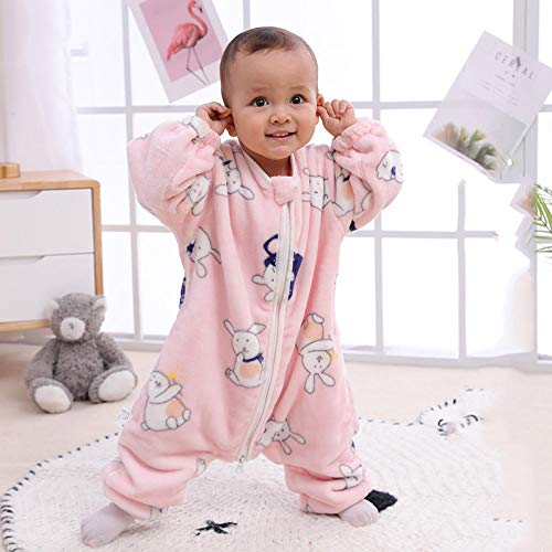 Baby slaapzakken 6-12 maanden, baby Swaddle deken wandelwagen Wrap, Plus fluwelen dikke dubbele laag baby flanel slaapzak, baby draagbaar deken slaapzak Baby