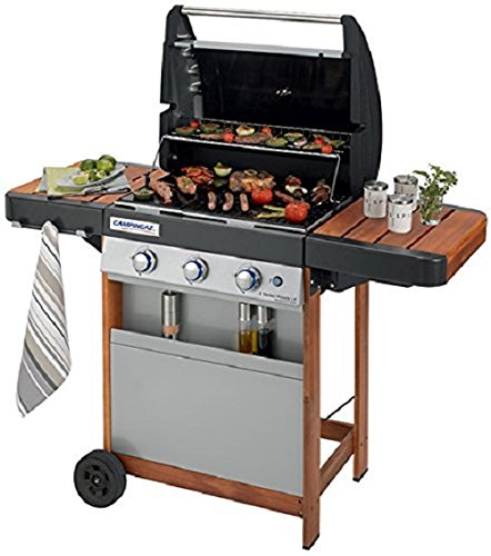 Campingaz  3 Series Woody LX Gas BBQ, Black and Grey