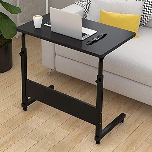 Cajolg Mesita de noche elevadora para ordenador portátil, escritorio de oficina, escritorio de estudio, escritorio, escritorio, escritorio, oficina, auxiliar, 80 x 40 m