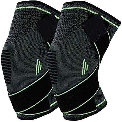 Transpirable Rodillera Deportiva Abrazadera for la rodilla de la manga de compresión, estabilizador lateral refuerzo for la rodilla y la almohadilla de gel de rótula y los hombres y mujeres for el apo