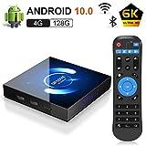 Android 10.0 TV Box, 4GB 128GB QPLOVE H616 Quad-core cortex-A53 6K Smart TV Box Support 3D/BT5.0/Dual WiFi 2.4G/5G /100M LAN/USB 2.0/ HDMI 2.0 Smart Top Box