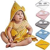 skiddoü Toalla de baño con capucha Skumi de algodón, secado rápido, absorbente, para recién nacidos, con certificado...