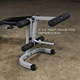 Body-Solid Powerline PLCE165X Leg Extension and Curl Weight Machine for Home Gym Workouts, Black