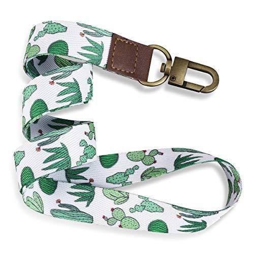 YoungRich Schlüsselband Lanyard mit Karabiner Umhängeband Zweiseitiger Druck in Vollfarbe mit Metallclip Ideal für Schlüssel,Arbeitskarte,ID-Karten,Handy (Kaktus)