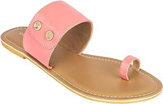 Chumbak Buttoned Up Pink Slider
