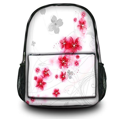 Zaino Sportivo Multifunzionale Luxburg Design , Motivo : Sakura bianco