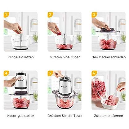 Zerkleinerer-Elektrisch-CHULUX-Universalzerkleinerer-2-GeschwindigkeitsstufenMultizerkleinerer-fr-Fleisch-Obst-Gemse-und-Babynahrung