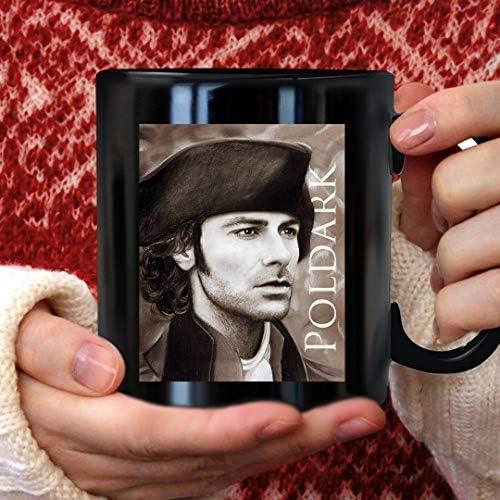 aidan turner ross poldark pastel portrait 2 mug 11oz dmn mug black 11oz product image