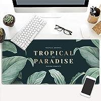 超大判 葉 マウスパッド,熱帯植物 ゲーミングマウスパット ラップトップ用,ネイチャープラント 長い キーボードパッド コンピュータ用,美しいデザイン