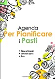 Agenda per pianificare i pasti: v1-6 Perfetta per pianificatore dei pasti per l'intera settimana | scrivere una lista della spesa per ogni pasto | 111 ... il cibo nell'angolo giallo arancione verde