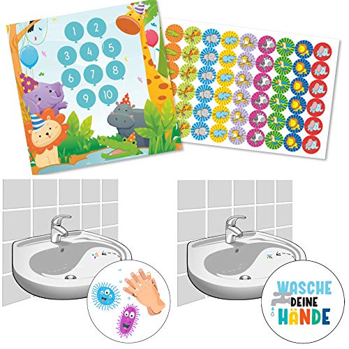 Spielbogen zur Belohnung für das Händewaschen für Kinder Belohnungstafel Partytiere