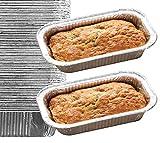 65 Pack – Aluminum Loaf Pans, Bread Pans, Meatloaf Pans l Disposable Cake Pan, Foil Loaf Pans l Top choice Tin Pans - Standard Size, 2 Pounds, 2LB - Outside measurements: 8.5' X 4.5' X 2.5'