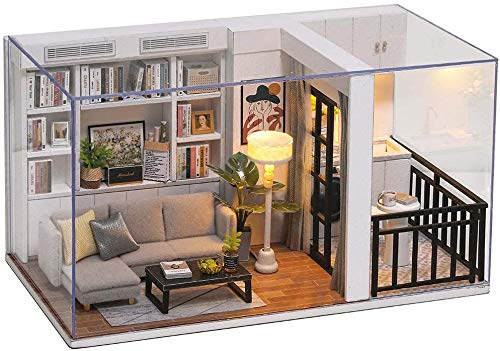 VKROOM DIY Miniature Dollhouse Kits Adults Wooden Mini Furniture Collections Home Decoration Mini...