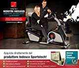 Zoom IMG-2 sportstech es600 cyclette ergometro reclinabile