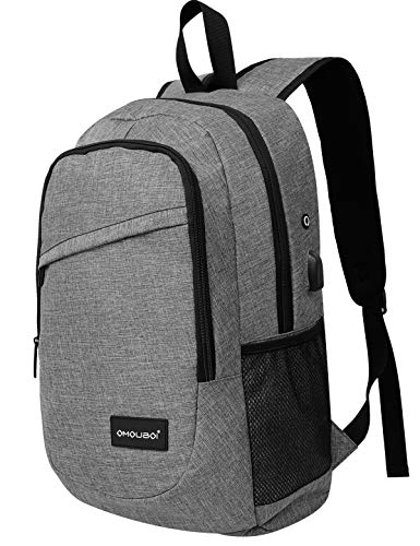 15.6' Laptop Backpack for Women, with USB Charging Port Business Work Bag (Grey)
