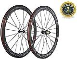 Paire de Roues Superteam 50mm / 23mm 700c Roue de Carbone de vélo de Route à Tringle