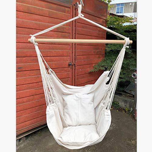 Radiancy Inc hangmat schommelstoel 2 personen schommelstoelen opknoping boom stoel schommelende doek stoel opknoping stof schommelstoel slaapkamer binnen en buiten voor volwassenen kinderen meisje jongen met 2 kussens