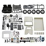 F Fityle WPL RC Truck Kit Sin Ensamblar 1:10 Escala Simulación Camión 260 Motor Escalada Juguete Eléctrico para Pasatiempos - Blanco