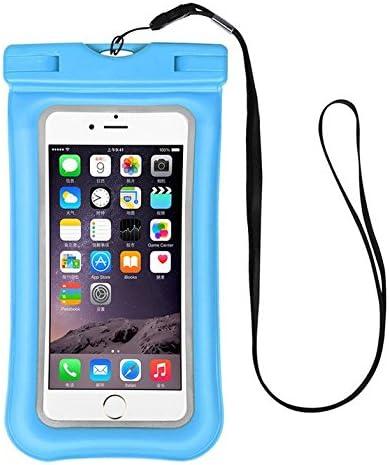 Workout Cellphone Waterproof Pouch Floatable Dry Bag Case for LG V40 ThinQ/G Vista/Stylo 4 / Stylo 4 Plus / G6 Plus / V20 / G7 ThinQ / V35 ThinQ / V30 / Samsung Galaxy S8 Plus / S9 Plus (Blue)