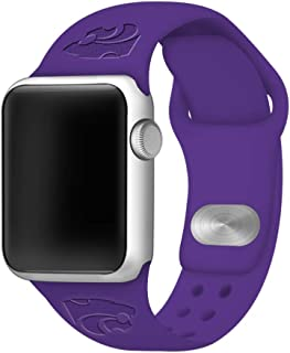 Affinity Bands Kansas State Wildcats Debossed Silicone Band Compatible with The Apple Watch - 42mm/44mm