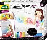 Lena-Kit de Manualidades Textil Styler Spray, Juego Completo con 4 Aerosoles, 1 Pintura de Purpurina para adornar, 8 Plantillas y lápiz de Contorno, para niños a Partir de 8 años, Color (42597)