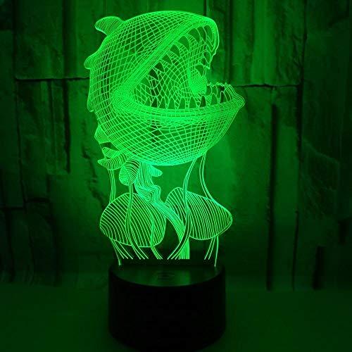 3D Nachtlicht Für Kinder, Pflanze Piranha 3D Licht Lampe 7 Farben Ändern Für Kinder Urlaub Und Geburtstagsgeschenke